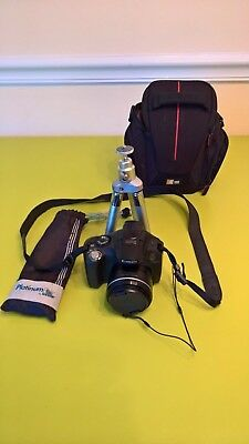 Canon Powershot SX40 HS Great Camera Tripod Logic Case 16gb SD CARD DSLR SX40HS