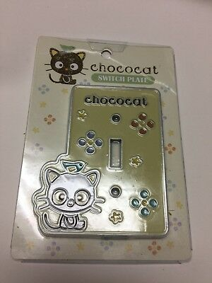 New Sanrio Stencil ChocoCat Switch Plate Metal Yellow