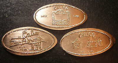 Calico Ghost Town - Three Retired Copper Elongated Pennies