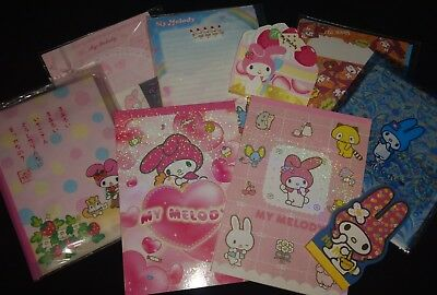 lot of Hello Kitty MY MELODY sanrio memo pads letter sets stationery kawaii
