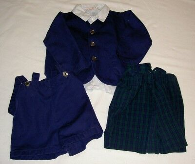 Vintage Baby Clothing From 1965 Jacket,Shirt & 2 Suspenders Health-Tex 3T