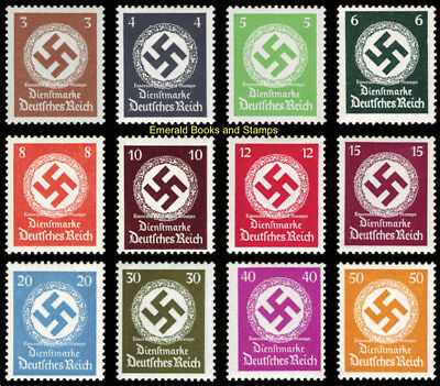 EBS Germany 1934 Official NSDAP Stamps full set mint Michel 132-143 MNH**
