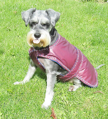 "Med Dog Coat/Jacket/Raincoat-Waterproof-fully lined-various colours. 14-16"" long"