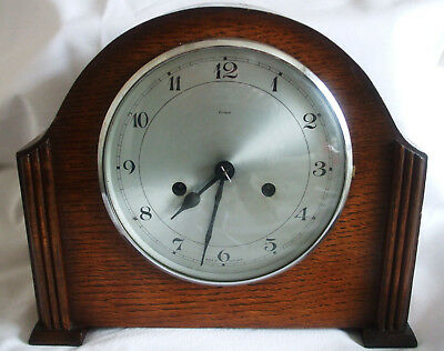 Smiths Enfield Mantel Clock 8 Day Fully Working 1950's