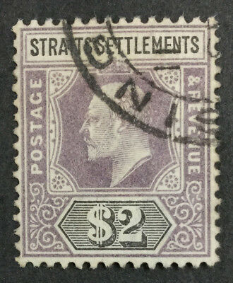 Momen: Straits Settlements Sg#120 1902 Used £80 Lot #4160