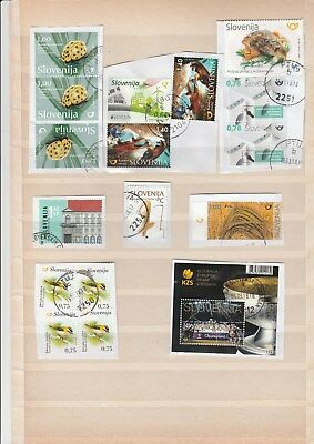 Lot slowenischer Briefmarken gestempelt