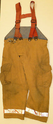44x26 Pants With Suspenders Firefighter Turnout Bunker Fire Gear Globe  P813