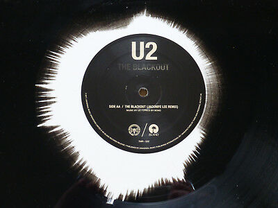 "U2 Limited Run 12"" inch the BLACKOUT Vinyl black & white Edition ( no Promo )"