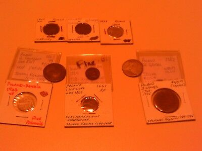 Rare Scarce Lot Group 9 Coins Poland 1664 1661 Schilling Silver 1662 Grosar More