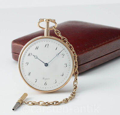 Echte Abraham Louis Breguet 18k Gold 1/4 Repetition Taschenuhr 1798 genuine