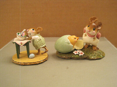 Wee Forest Folk M-408 Tipsy Basket and M-193 Welcome Chick - Easter