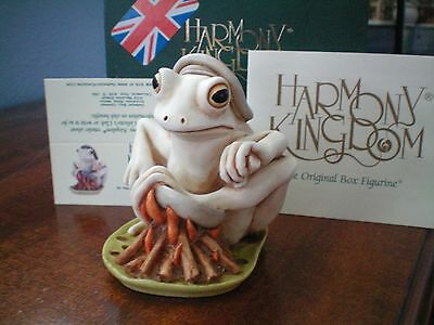 Harmony Kingdom Bon Appétit Frog Legs UK Made Marble Resin Box Figurine