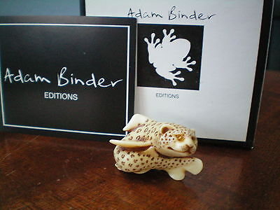 Adam Binder Editions Leopard Shark UK Made Netsuke Figurine Bling Eyes LE300 NIB