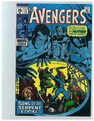 Avengers # 73 - February 1970 - Very Fine Minus (Vf-) 7.5