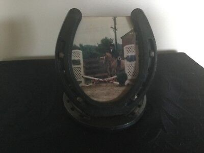 Cute Horse Shoe Picture Frame Real Horse Shoe