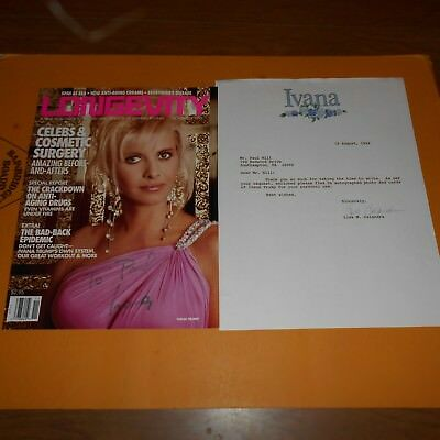 Ivana Marie Trump is a businesswoman Hand Signed Magazine Cover