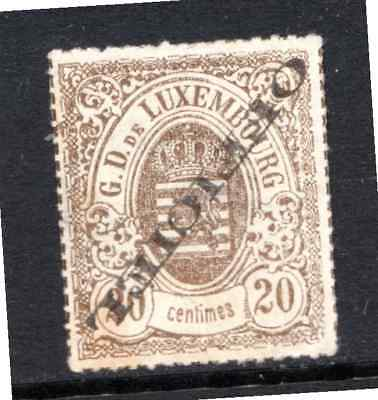 LUXEMBOURG   1875  2c  OFFICIAL UNUSED OVERPRINT INVERTED