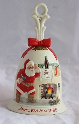 Royal Orleans 1985 Coca Cola Santa Claus Ceramic Christmas HandBell Japan