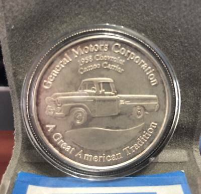 General Motors GM 1oz Silver Round .999 Troy Ounce 1958 Chevrolet Truck Coin