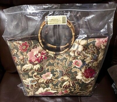 NEW Longaberger Majolica Garden LARGE Tote