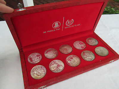 1969 Republic of Tunisia Proof Set Silver Franklin Mint 10 Silver Coins