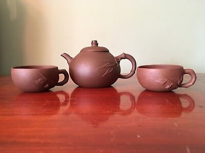 Chinese Yixing Tea Pot With 2 Cups