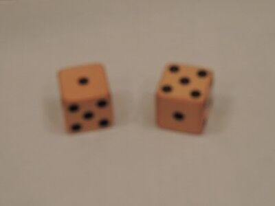 """Vintage Pair 1"""" Celluloid Dice """"Cheaters"""""""
