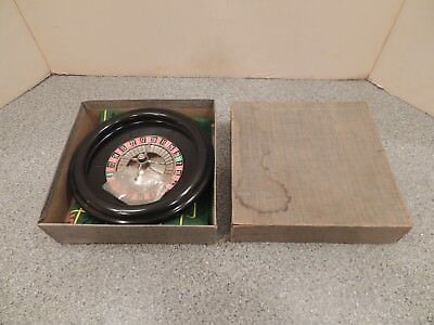 Vintage Bakelite Roulette Wheel with Layout and Balls Boxed