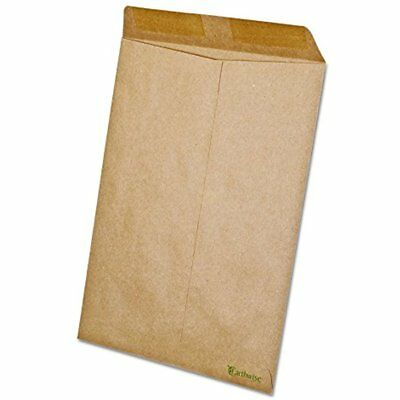 Earthwise By Ampad 19706 100% Recycled Paper Catalog Envelope, X 12, Kraft (Box