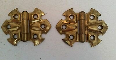 Pair Matching Decorative Vintage Stanley Hinges  (198H)