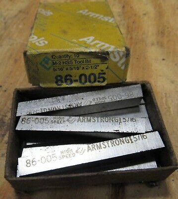 Armstrong Hss 5/16 Tool Bits Off A South Bend Lathe