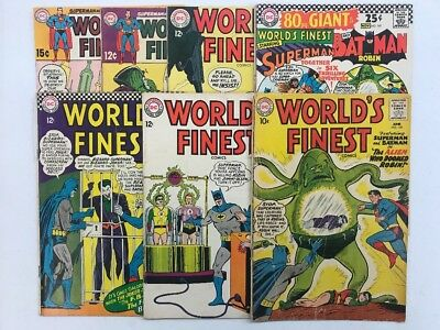 Worlds Finest Silver Age Lot 7 Issues G-VG+