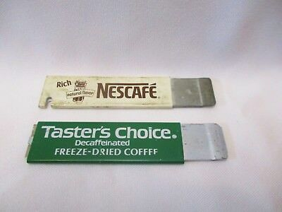 Lot of 2 Vintage Advertising Nescafe Taster's Choice Box Cutter Utility Knives