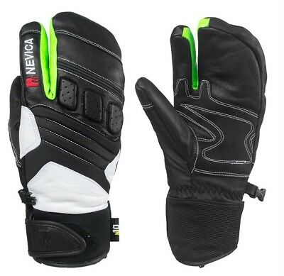 Nevica Race Ski Mitts Mens Black And Green  Size Medium