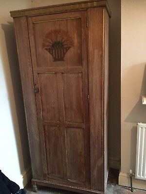 Old vintage single wardrobe