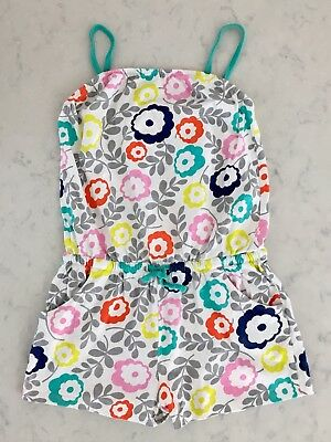 Mini Boden Funky Daisy Floral Printed Jersey Playsuit Romper Jumpsuit 11-12Y