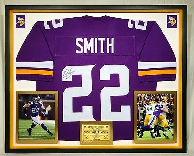 46cc147034a Premium Framed Harrison Smith Autographed   Signed Minnesota Vikings Jersey  -JSA