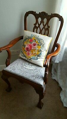 Pair of Vintage Antique Ornate Chairs
