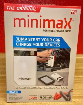 MiniMax Portable Power Pack AS SEEN ON TV Back Up Phone Devices Charger Battery