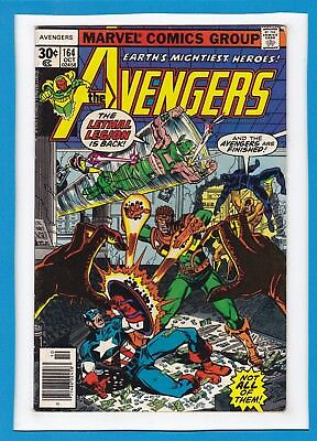 """Avengers #164_October 1977_Very Good_""""the Lethal Legion Is Back""""_Bronze Age!"""