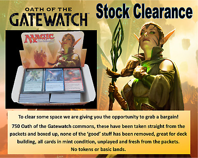 MTG Oath of the Gatewatch - Box of 750 Commons - No Tokens or Basic Lands - New