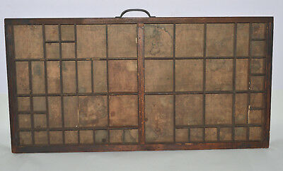 Vintage Printer's Letterpress Type Tray/Drawer Shadow Box, Lower Case, full size