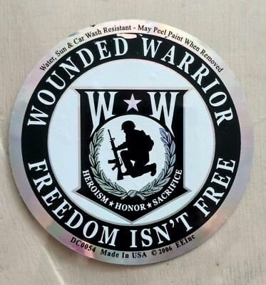 "Wounded Warrior Freedom Isn't Free Decal (3.5"")"
