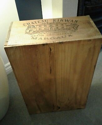 wooden champagne crate, box