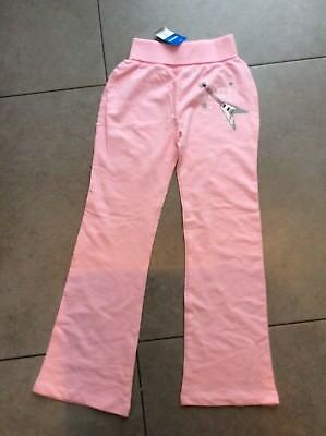 Bnwt Girls Pink Angel Tracksuit Bottoms Trousers Age 10 9-10 Years New