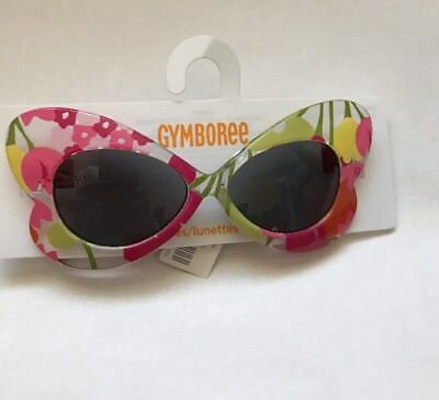 NWT Gymboree Toddler Girl Butterfly Shaped Floral Sunglasses 0-2 years