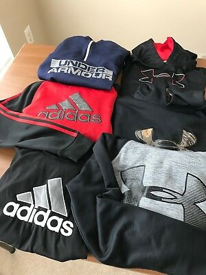 Lot of Boys' Under Armour/Adidas Sweatshirts--6 total !!!  Very good condition