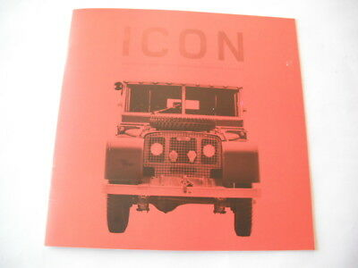 Land Rover Defender Icon Brochure Catalog  10 Pages