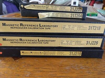 Alignment tapes for reel to reel tape recorders