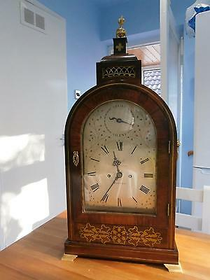 Double Fusee Brass Inlaid Bracket Clock by French Royal Exchange